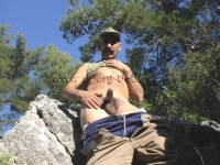 In this kurdish gay video he plays a turkish soldier in the nature undresses naked and masturbates one.