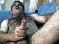 His cumshot is lying down and his orgasm is intense with a lot of feeling.