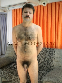 His Chest, his Legs and his plump Ass, everything is super hairy.