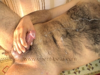 When Cumshot he makes Noises and he has a lot of Pressure at his Orgasm, he shoots up to his Neck.