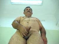 His body is strong with little body hair. He has a figure like a turkish bear.