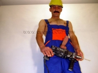 In this turkish gay viodeo he plays a construction worker,