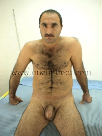 In this turkish gay video you saw a very hairy turkish man naked