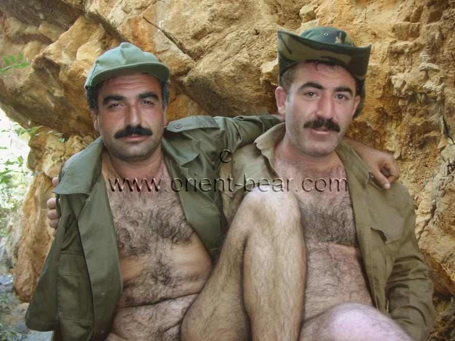 Two young turkish Bears are fucking in a very horny turkish outdoor Gay Video.  They play two Turkish soldiers who love each other. There are very horny scenen with two very horny hairy bodies to see. Both have full hairy asses. go to this photo series