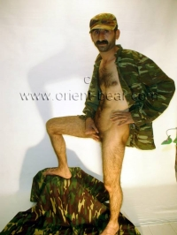 Naked Kurdish Soldier