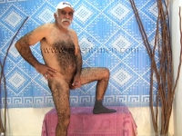 a very horny older naked turkish bear with a very hairy body.