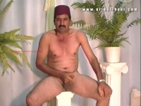 Before his cumshot he masturbates very aggressively, he cramps properly and at his orgasm comes a large amount of horny sperm