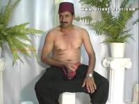 a horny naked turkish man