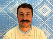 Recep a young turkish man from the orient with a thick mustache. (id1010)