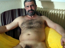 Selahattin is a sexy hairy turkish Daddy with a big and long Cock. (id1325)