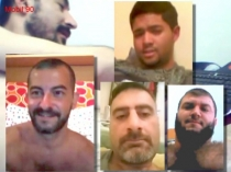 Mobil-90 Five Iraqi nude men show his cocks and jerk off. (id1494)
