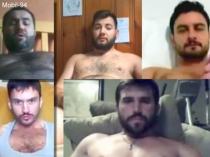 Mobil-94 - five naked Turkish men show your hot cocks. (id1509)