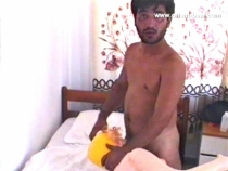 Ugur - a young turkish bear fucks naked a rubber doll. (id953)