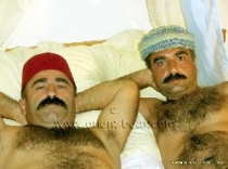 Hueseyin and Ali S. two hairy turkish men fucking in doggy style. (id183)