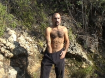 Ibis - a haired turkish man masturbates naked in a outdoor video. (id531)