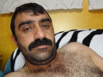Tufan - a naked haired kurdish man with a very stiff cock and a lot of pressure and shows his hairy butt in doggy style. (id1004)