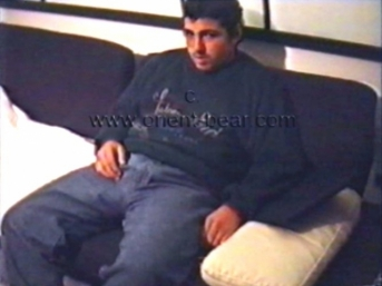 Malik - is a very young naked turkish bear with a rock hard cock in a turkish gay video. (id1037)