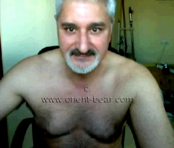 Tolga - a older naked turkish man with a sexy hairy body and a horny hairy ass crack...