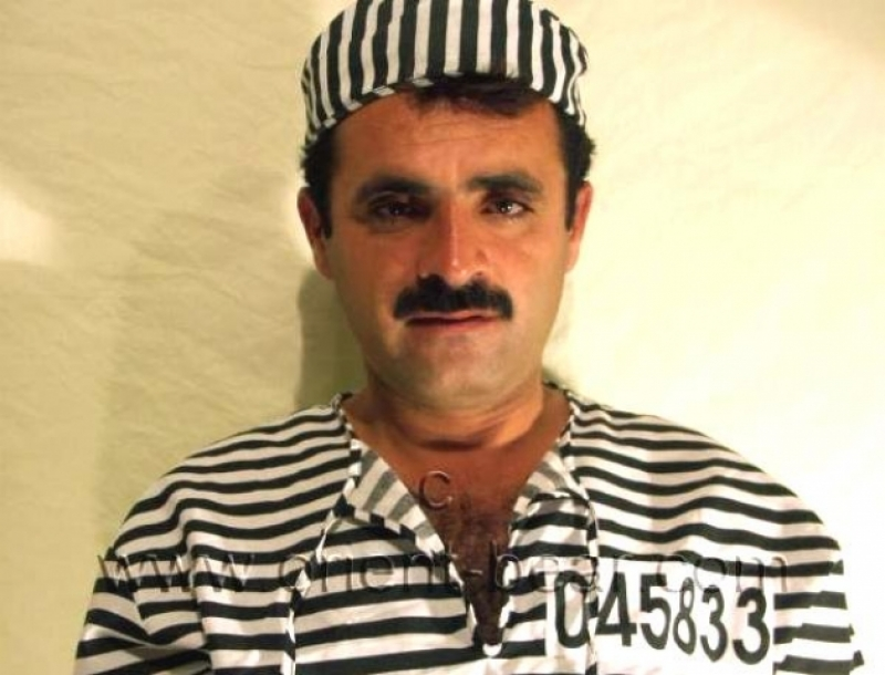 Arif - a naked very Hairy Turk as a prisoner with handcuffs in a turkish gay video. (id116)