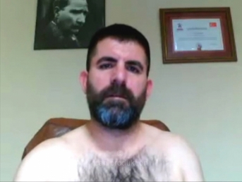 Kirhan - a sexy Iraqi Bear with horny hairy Chest and lots of Sperm