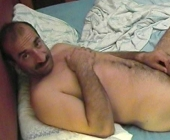 Ahmet - is a naked kurdish iraqi ex officer with a horny hairy body, a very big cock and thick balls. (id1221)