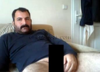 Suman - a real Turkish Bear makes 3 Cumshots and an horny Ass Show