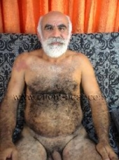 Ibrahim M. - a Naked Turkish Silver Daddy with fur for body hair and a big cock in a furry turkish gay video. (id138)