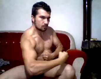 Bulut - is a totally shaved Turkish Man with a very big Cock...