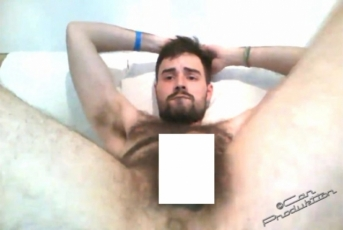 Ahmed A. - a naked strong haired young turkish bear wanks his big hard cock. (id1475)