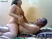 Hetero-06 - an older Iraqi man fucks his wife naked and she licks his ass. (id1488)