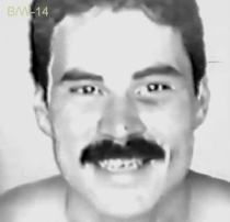 B / W-14 is a horny young hairy man with a perfect body and a big black bush. (id1491)