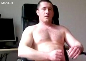 Mobil-91 - a young bulgarian turkish gay with a big and thick cock jerks naked and eats his cumshot and takes poppers. (id1498)