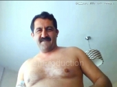 Mazlum a naked kurdish bear with a very strong body and a huge cock wanks naked in the chair. (id1504)