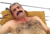 Selahattin - a sexy turkish man with a very big cock and an intense orgasm lies naked in bed and jerks off. (id1507)