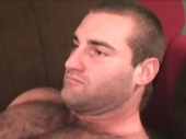 Mobil-93 Aleko - a very strong bulgarian turk with a horny hairy body with many muscles and a sexy face masturbates naked. (id1508)
