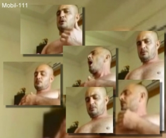 Mobil-111 - in this turkish gay video you see naked an older turkish man with a rock-hard big cock jerking off. (id1547)