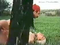 Hetero-20 - a naked Bulgarian Turk with a horny big cock fucks his girlfriend in a meadow in a Bulgarian outdoor porn video for gays.