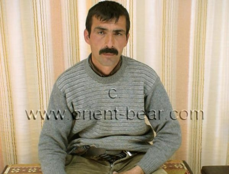 Mehmet A. - A kurdish gay video with a naked kurdish man, with an oriental face with a big mustache and a rock hard cock. (id214)
