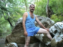 Tarek D. - a kurdish man with a very long cock jerks naked in a very hot turkish outdoor gay video. (id220)