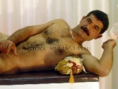 Harun - a young Naked Hairy Turk with a great hairy body and lots of cum in a turkish gay video. (id240)