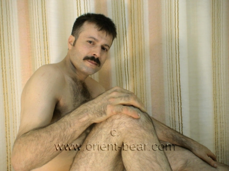 Hakan S. - a young naked hairy turk with a very hairy big cock and a huge big bush seen in a turkish gay video. (id253)
