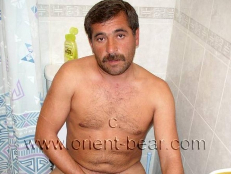 Berdan - a young naked turkish bear with a lot of sperm jerks in the bathroom. (id255)