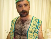 A very hairy Kurdish Turkish Man with Fur as Body Hair and a stone hard cock strips naked. (id280)