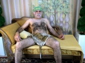 Ibrahim M. - a older turkish Silver Daddy with very big Cock and very hairy Ass in a turkish Gay Video. (id40)
