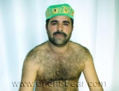 Osman B. in this turkish gay video you can see a very hairy turkish bear with an always hard cock. (id412)