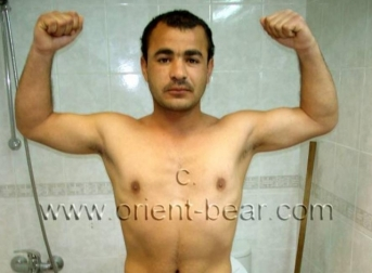 Musa - a sporty young turkish man with a big cock jerks naked in a turkish gay video. (id414)