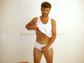 Turgut - a  naked haired turkish man with a very hard cock and hairy apple ass to see in doggy style in a turkish gay video. (id5)