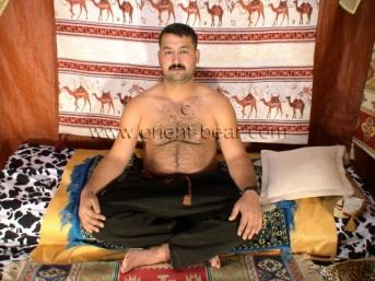 Cengiz a true oriental, Mongolian Pasha in a Bedouin Tent