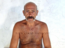 Erhan E. - is a big turkish silver daddy with a big cock is naked in rubber boots. (id625)