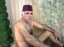 Ibrahim M. a nude hairy turkish silver daddy with a big cock and a totally hairy butt. (id673)